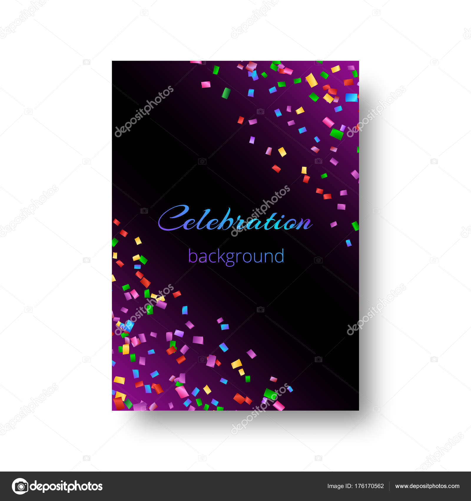 new year invitation template with confetti stock vector