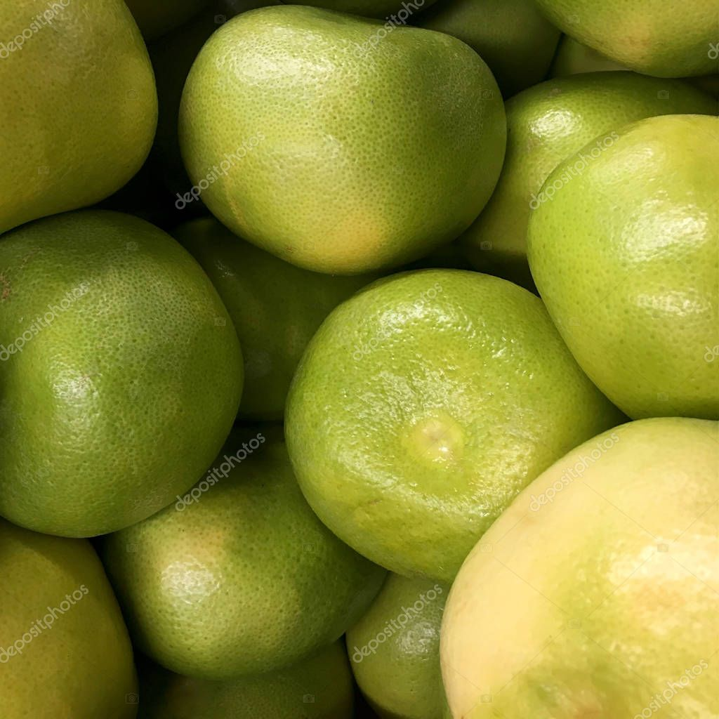 Pomelo. Green pomelo