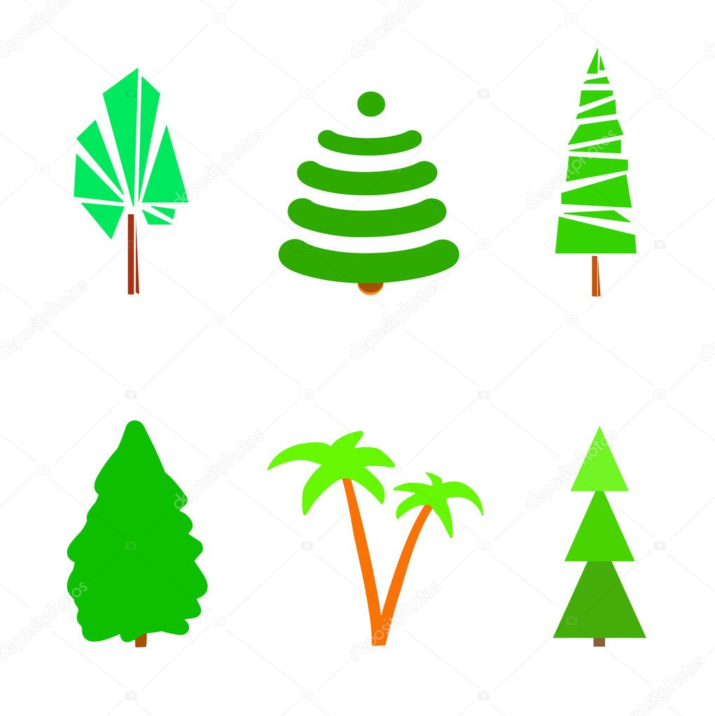 Green trees symbols stock vector mikabesfamilnaya 126217708 green trees symbols stock vector biocorpaavc Image collections
