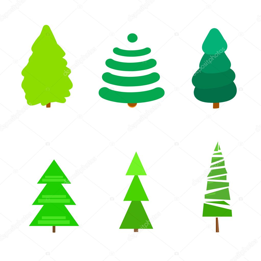 Geometric Trees Symbols Stock Vector Mikabesfamilnaya 126217714