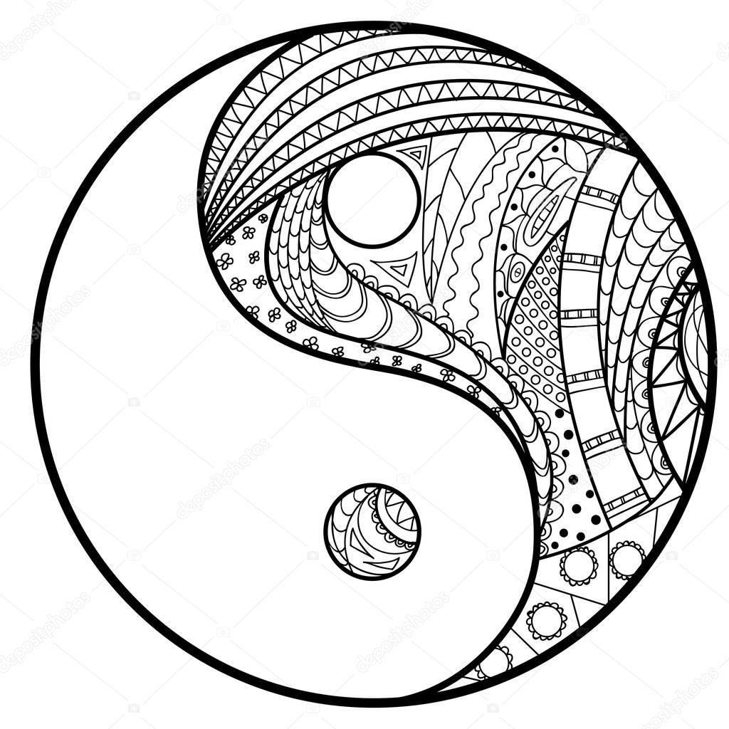 yin en yang — stockvector © mikabesfamilnaya 140920676