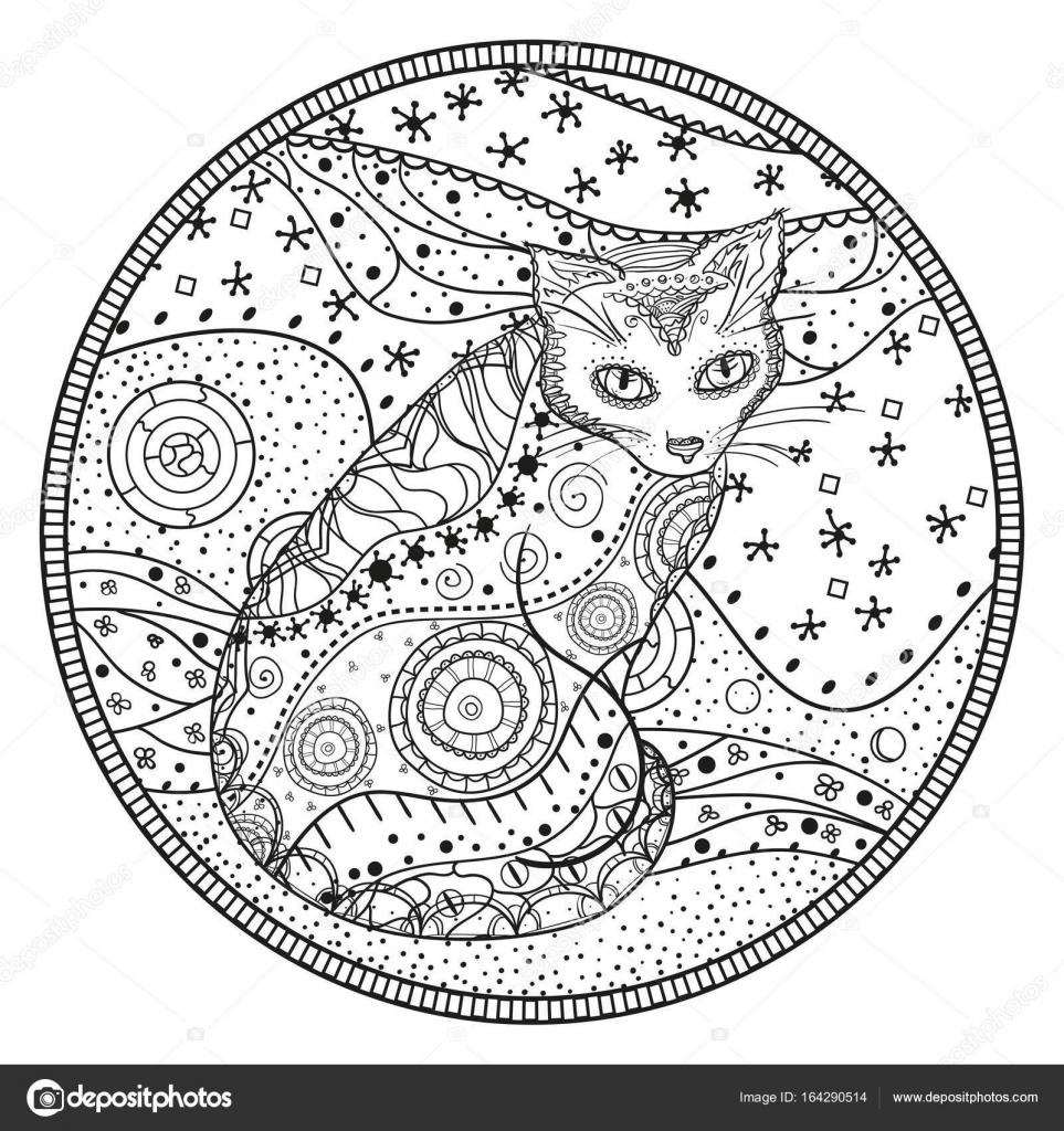 Mandala. Zentangle. Hand gezeichnet — Stockvektor © MikaBesfamilnaya ...