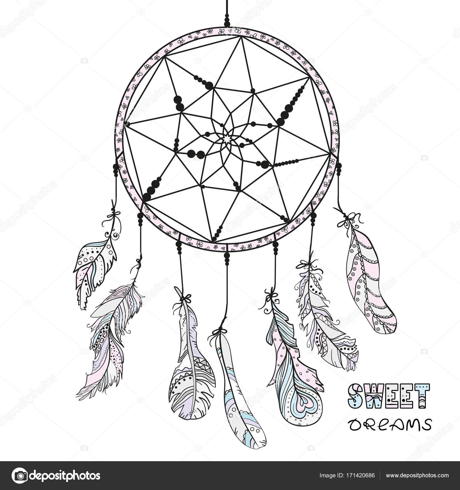 Dreamcatcher Tattoo Art Stockfoto C Mikabesfamilnaya 171420686