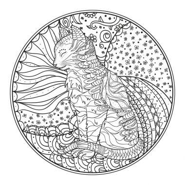 Zendala.Line art.