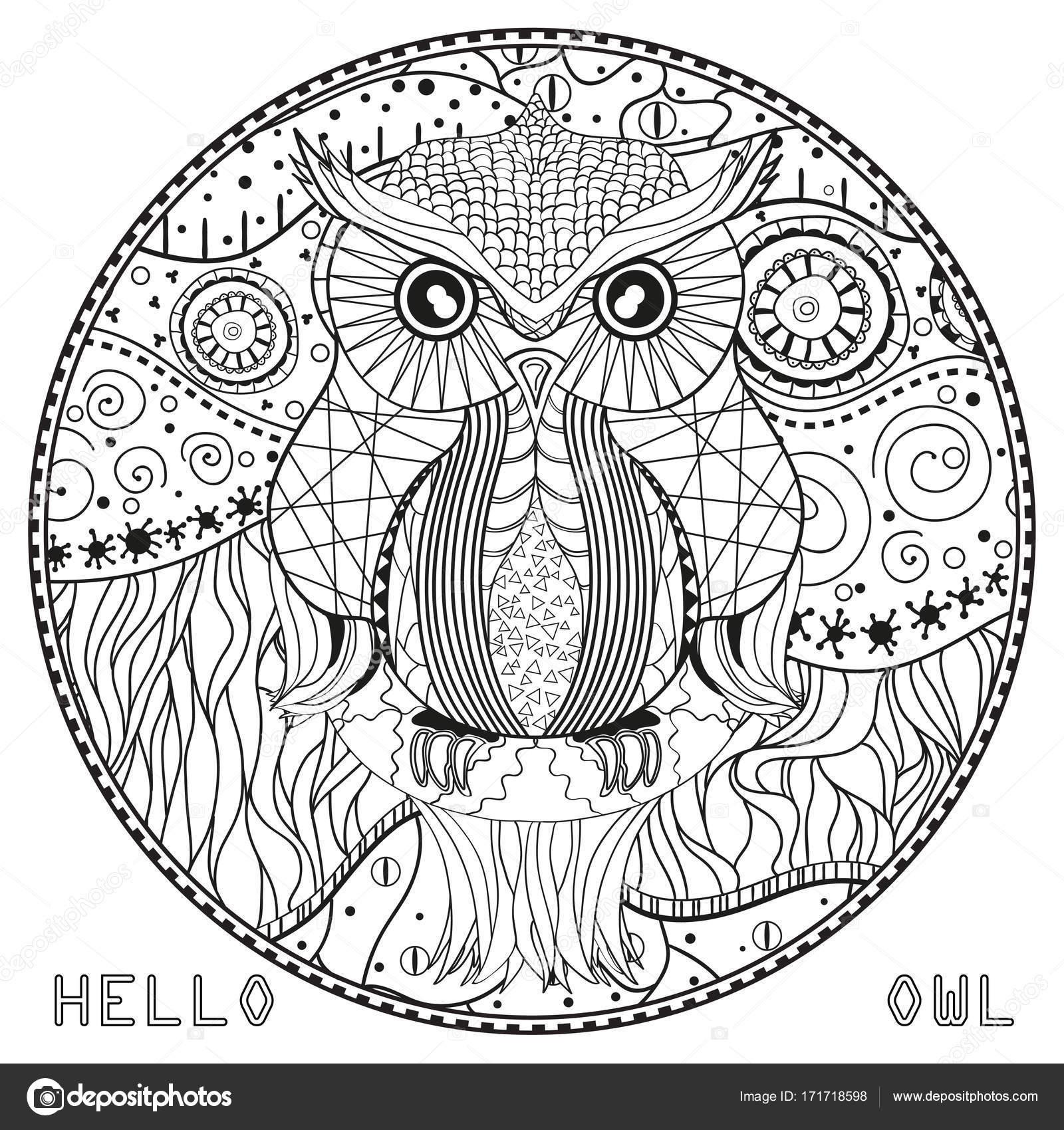 Kleurplaten Mandala Uil.Geniaal Mandala Kleurplaten Voor Volwassenen Uil Klupaats