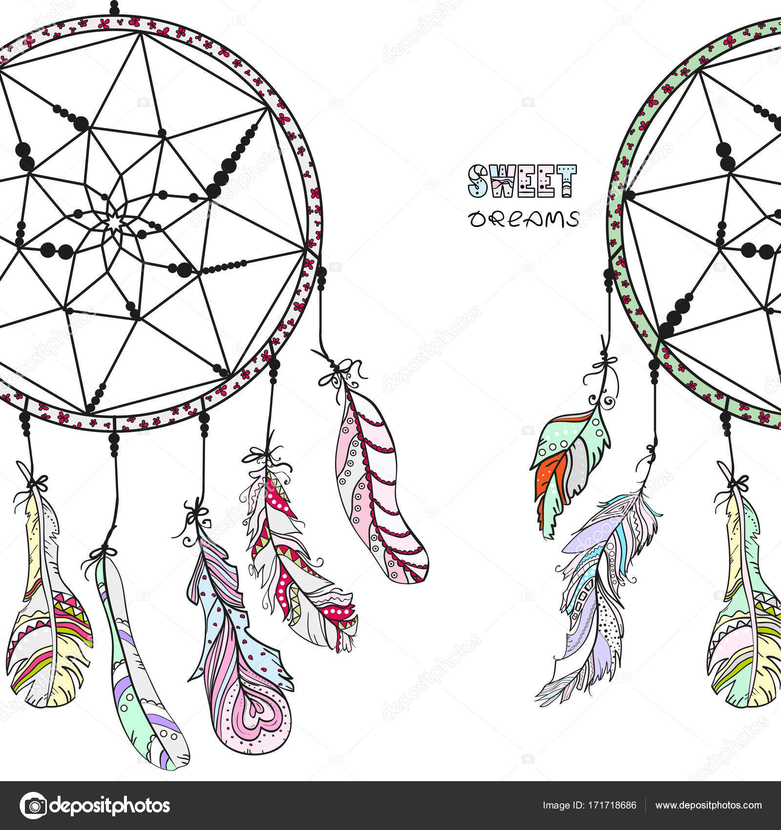 Dreamcatcher Tattoo Art Stockfoto C Mikabesfamilnaya 171718686