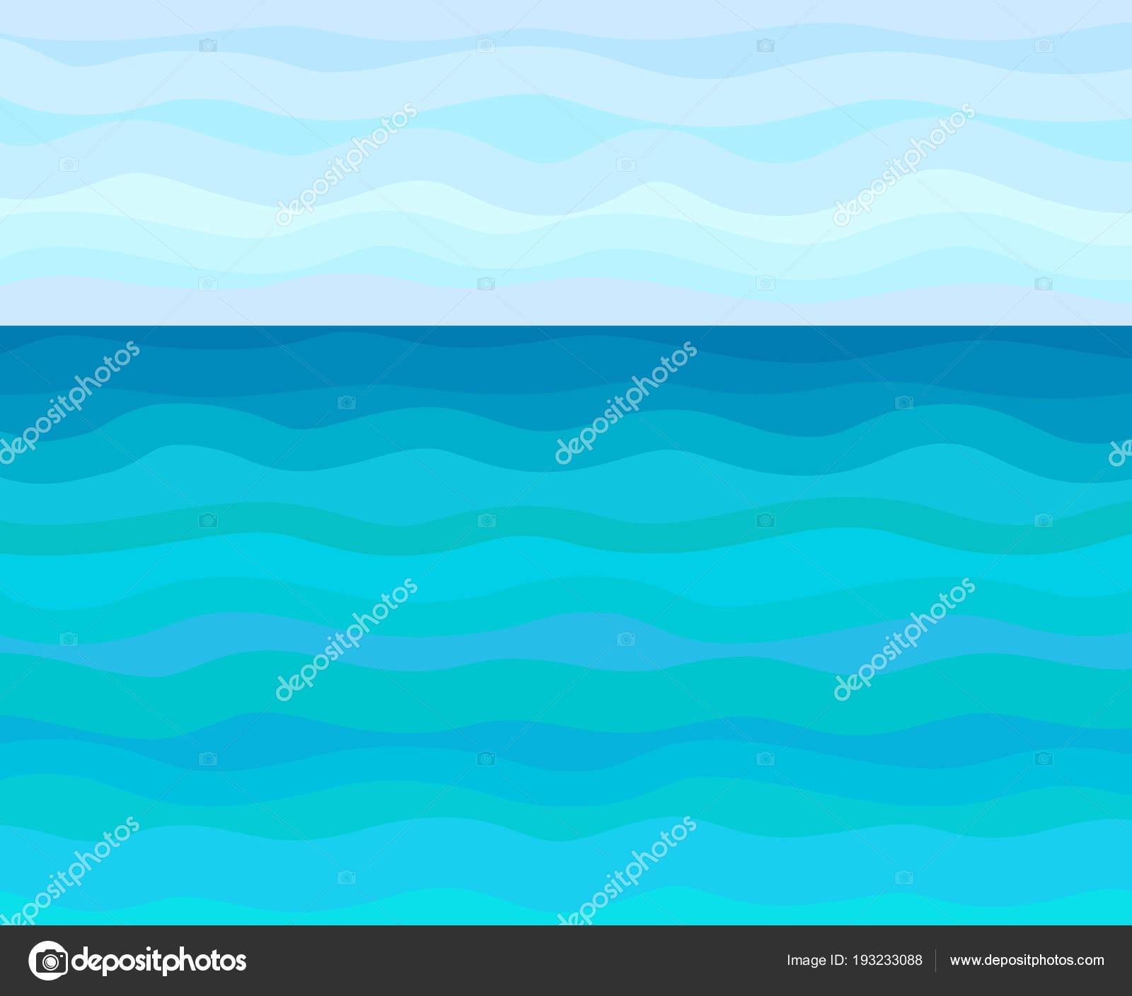 Patrón Abstracto Paisaje Mar Universal Fondo Multicolor Rayada Con ...