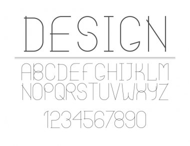 The modern line font