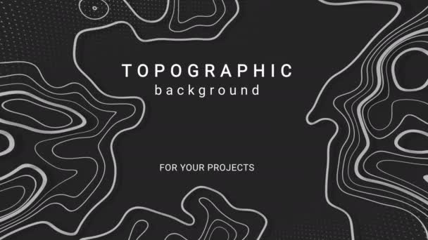 Abstract animated topography background. Memphis minimal background.