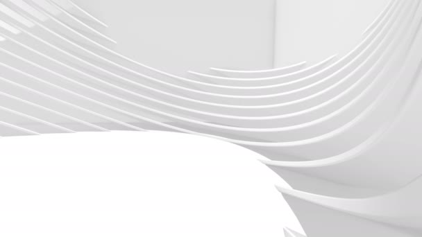 4k Animated White Architecture Circular Background.