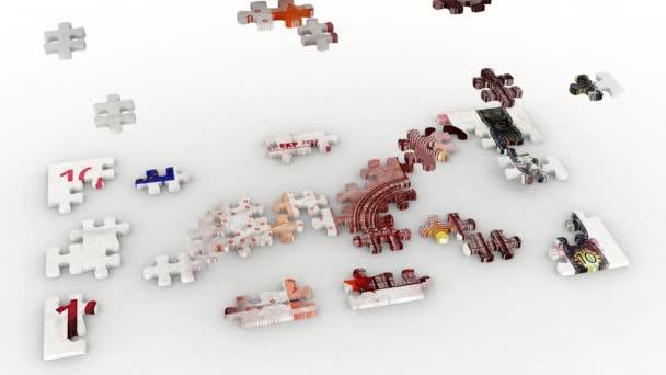3D obrázek - videa. Puzzle a hromadu deset euro