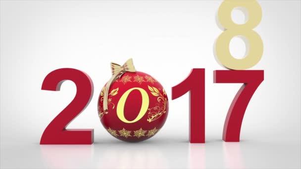 3D obrázek - videa. Nový rok 2018 vánoční dekorace