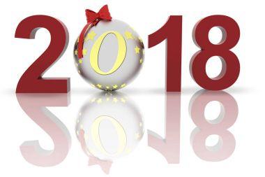 3D illustration - Videos. New Year 2018 Christmas decoration