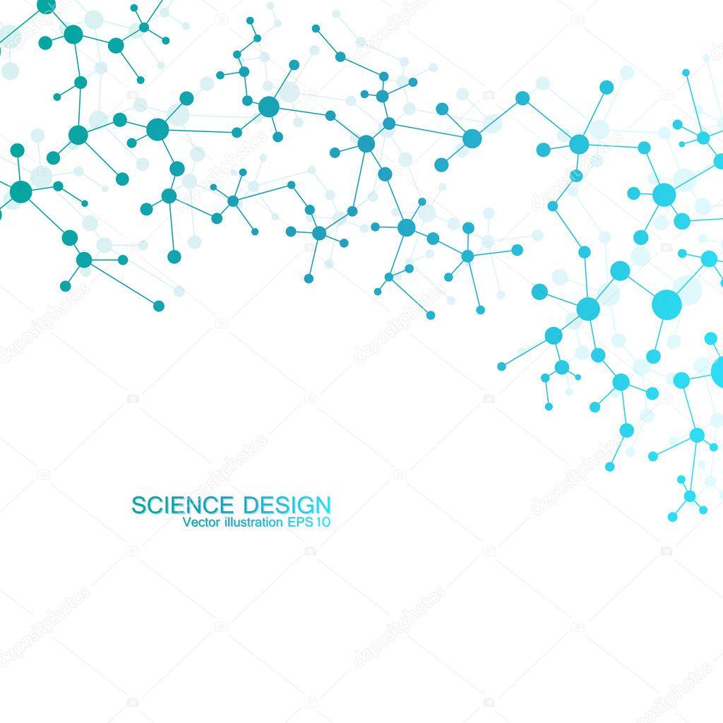Struktur Molekül Der Dna Und Neuronen Strukturelle Atom
