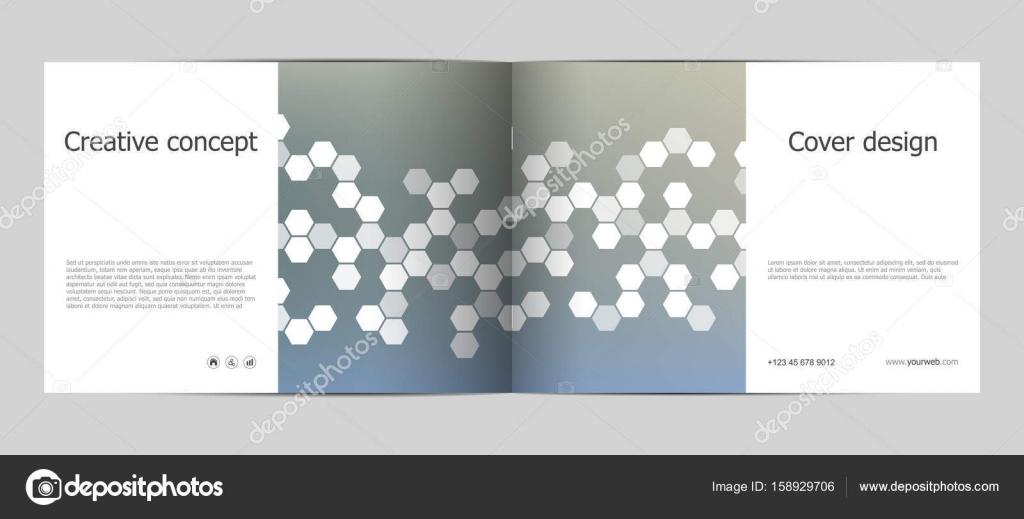 Rechteck Broschüre Vorlage Layout, Cover, Geschäftsbericht, Magazin ...