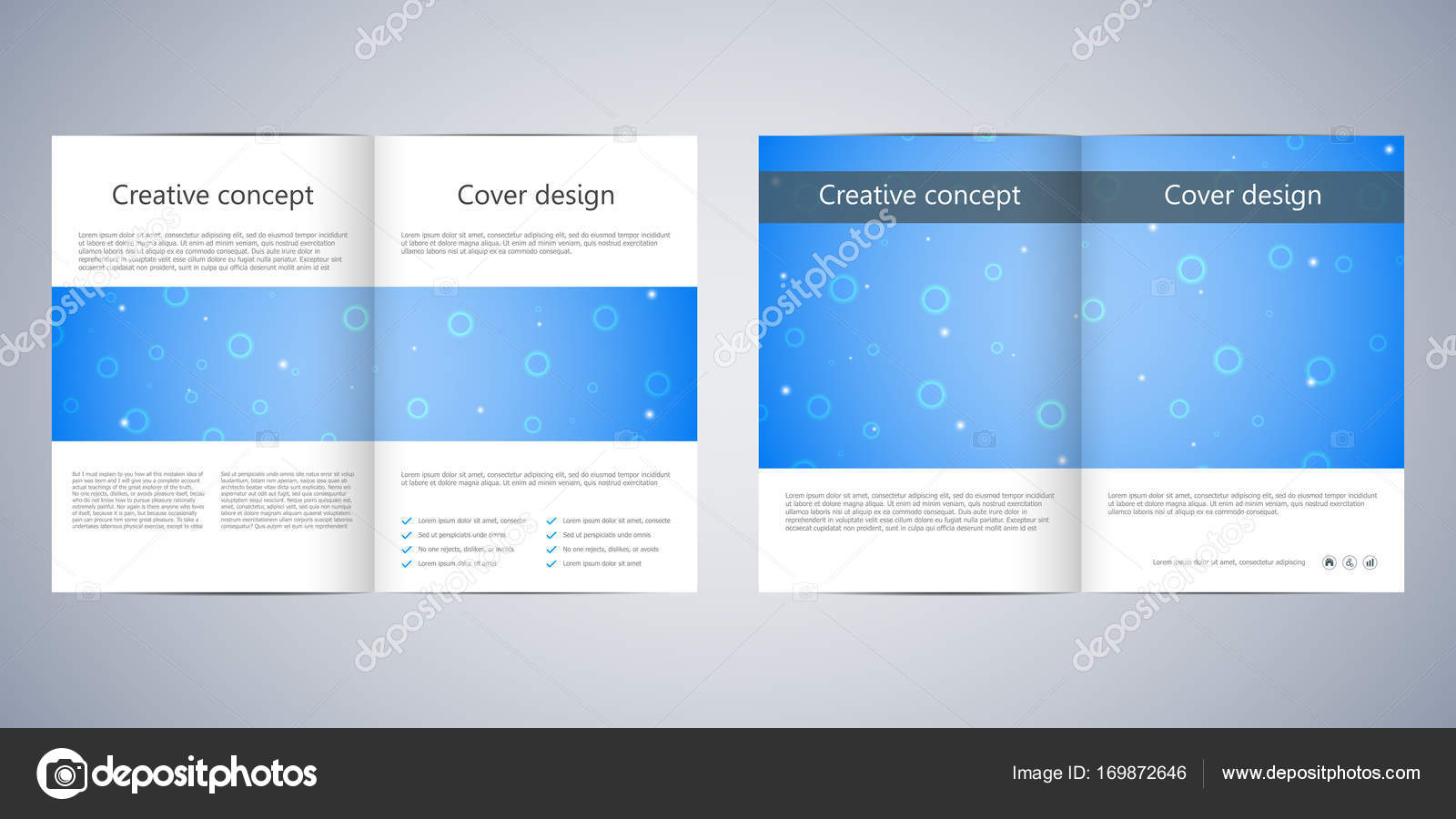 Bi Fold Business Brochure Template With Abstract Background