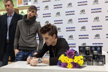 Dima Bilan - Autograph session from Dima Bilan and Azzaro DECIBEL in honor of the 15th anniversary of L'etoile. Nov 14,2012, Moscow, Russia