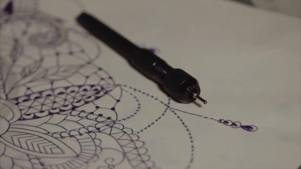 Tetoválás rajz közelről
