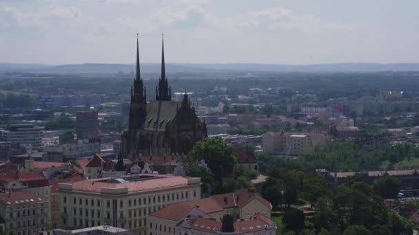 City panorama of Brno with Cathedral of St. Peter and Paul, Czech Republic