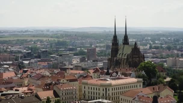 Brno cityscape with Cathedral of St. Peter and Paul
