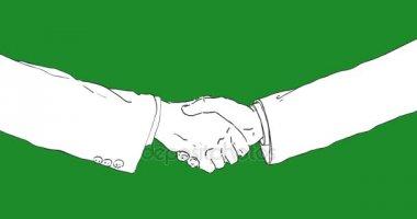 Hand draw 2d animation handshake