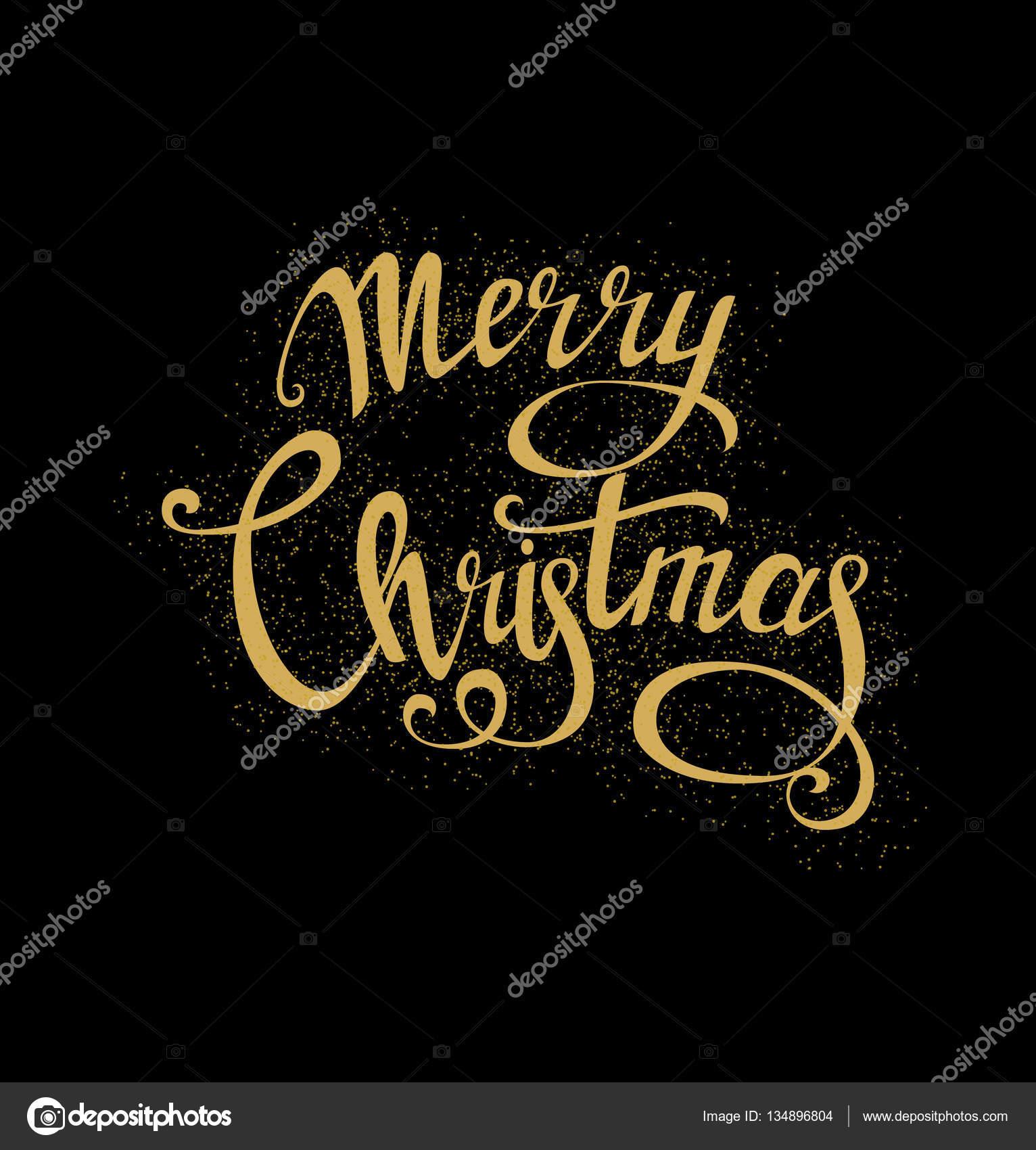 Frohe Weihnachten schöne Schriftzug, handgemachte Kalligraphie ...