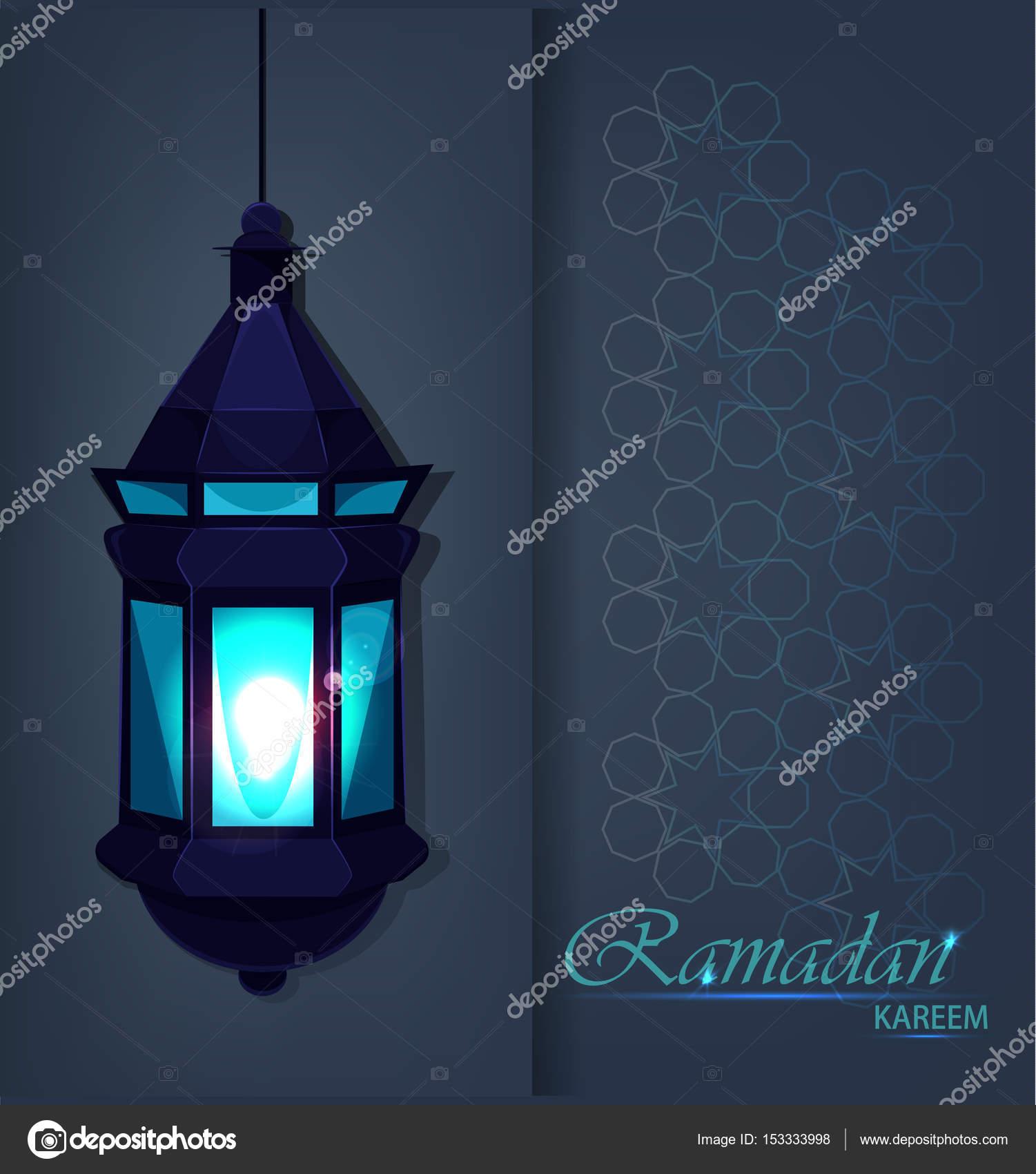 Ramadan kareem beautiful greeting card with traditional arabic ramadan kareem beautiful greeting card with traditional arabic lantern on blue background muslim traditional holiday m4hsunfo