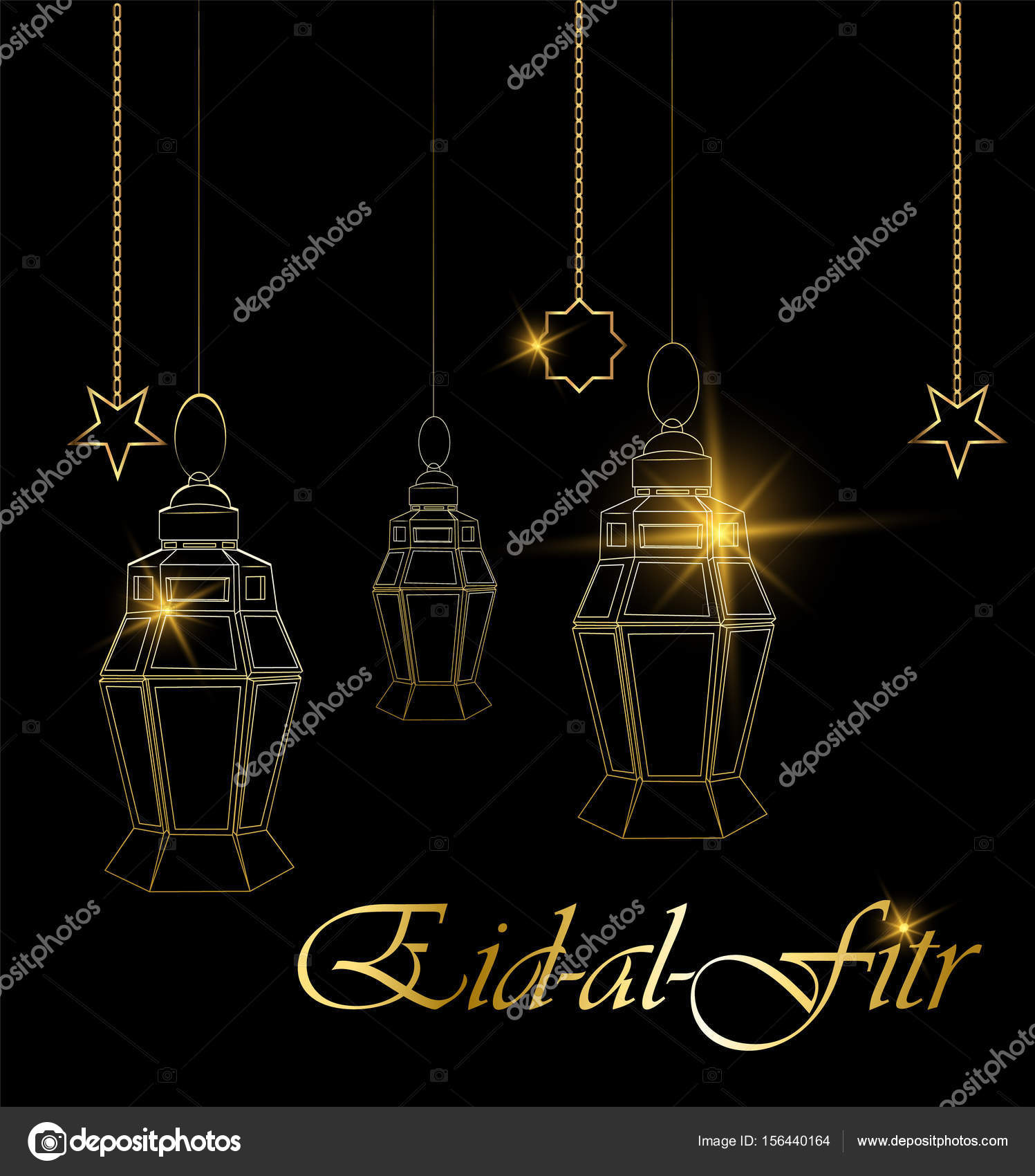 Ramadan beautiful greeting card with hanging lanterns moon and ramadan beautiful greeting card with hanging lanterns moon and stars on black background muslim traditional holiday vector vector by vectorkif m4hsunfo