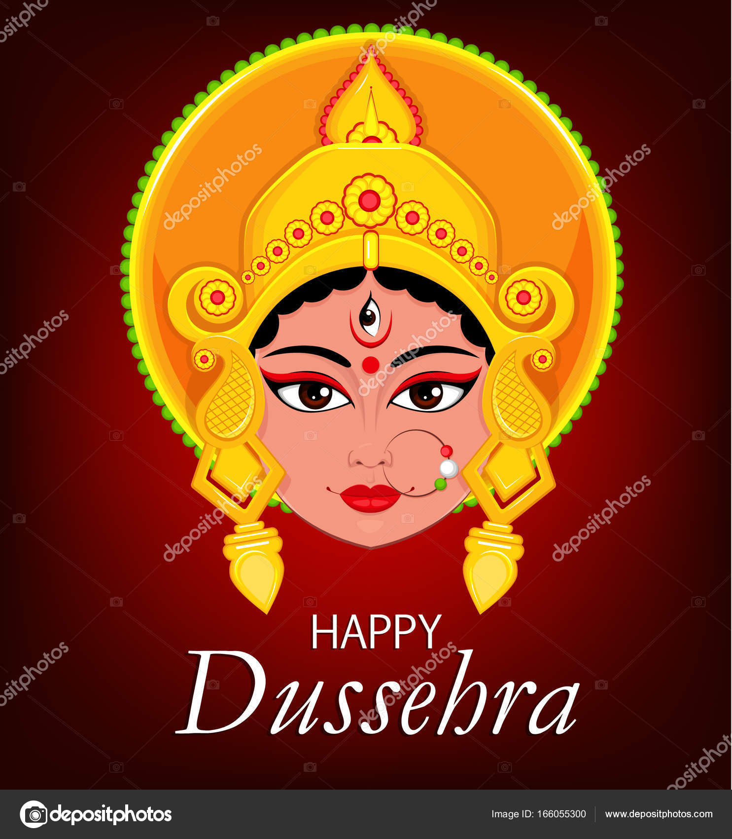 Happy dussehra greeting card maa durga face for hindu festival happy dussehra greeting card maa durga face for hindu festival stock vector kristyandbryce Image collections