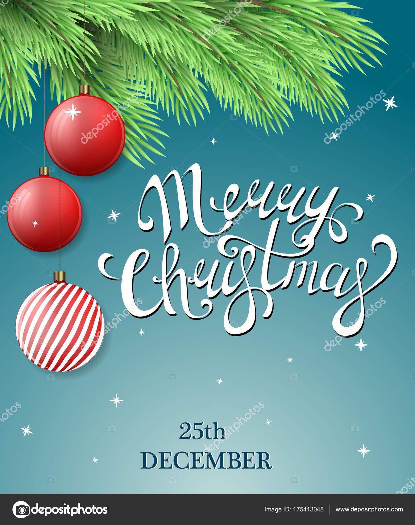 Immagini Con Scritte Di Buon Natale.Illustrazione Albero Natale Con Scritte Cartolina Buon