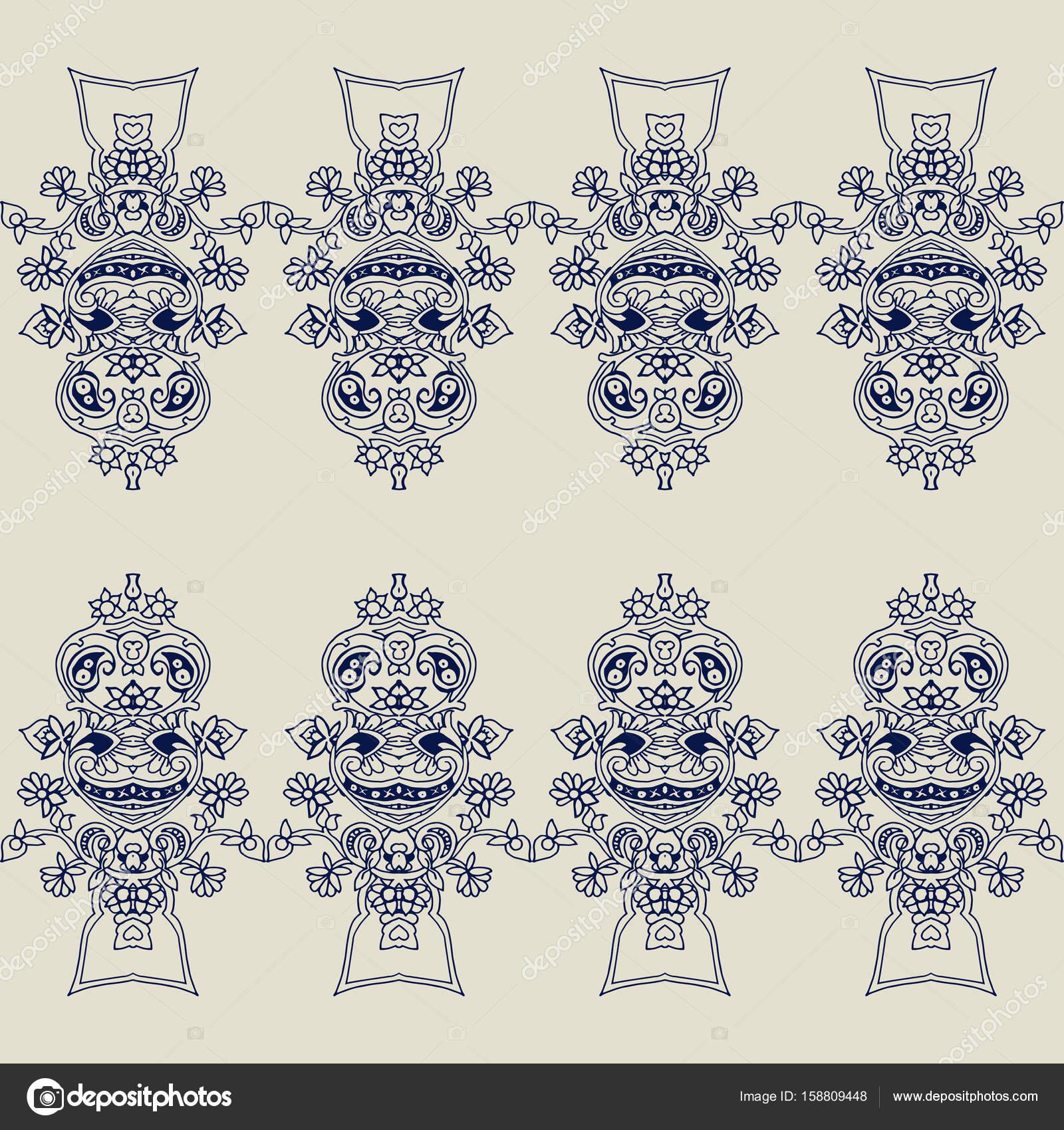 Fondo adorno Paisley — Vector de stock © tabuday #158809448
