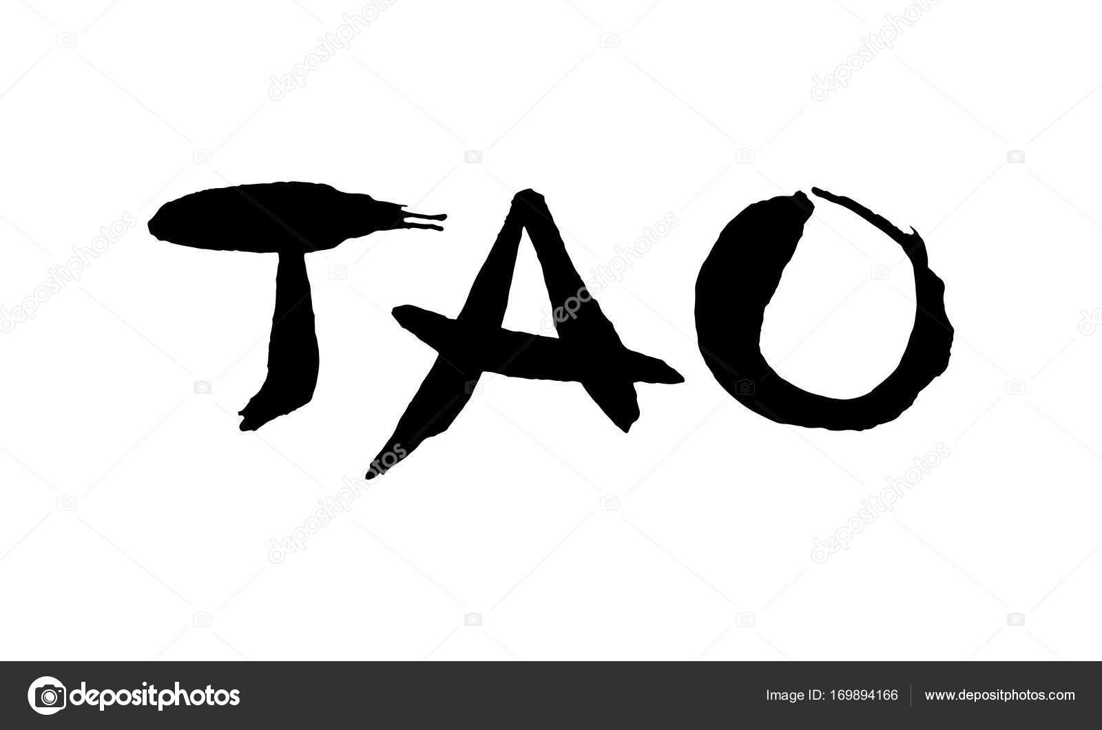 Eastern symbol tao stock vector tabuday 169894166 tao lettering handmade vector ink painting original writing vector by tabuday buycottarizona Images