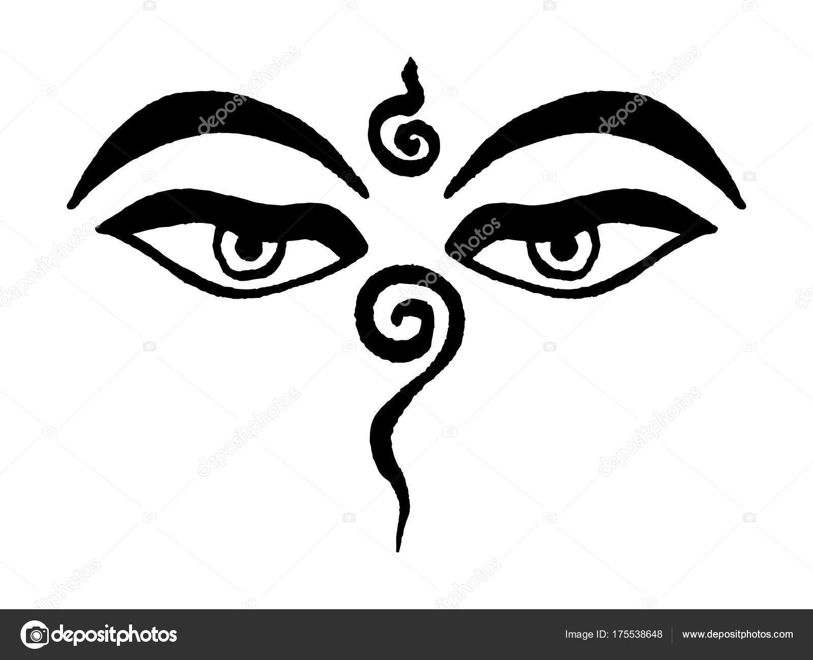 Peaceful eyes buddha tibetan buddhist meditation symbol represent peaceful eyes buddha tibetan buddhist meditation symbol represent universal wisdom stock vector buycottarizona Image collections