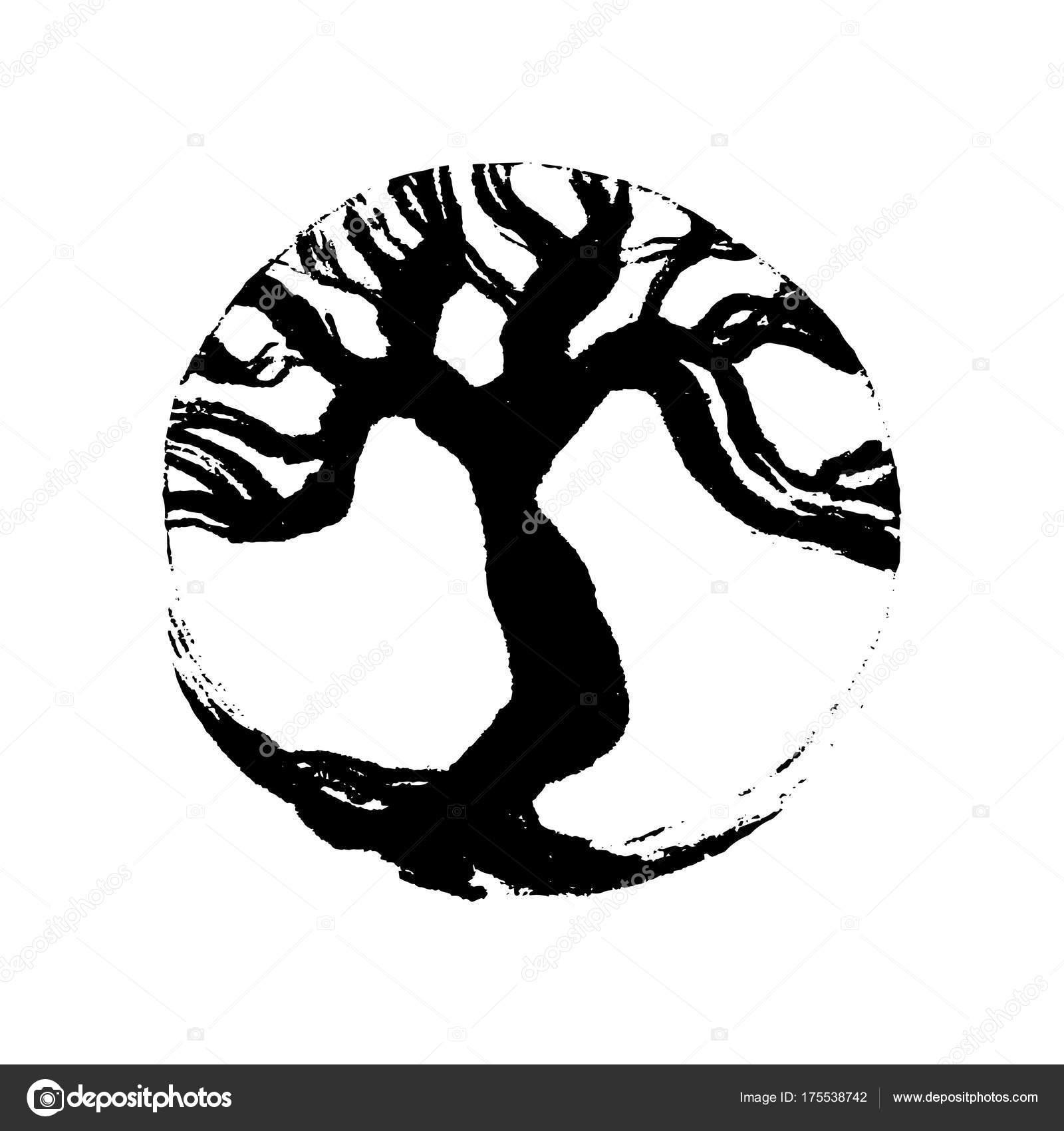 Tree life bodhi buddhist symbol handmade vector ink painting tree life bodhi buddhist symbol handmade vector ink painting stock vector biocorpaavc Images