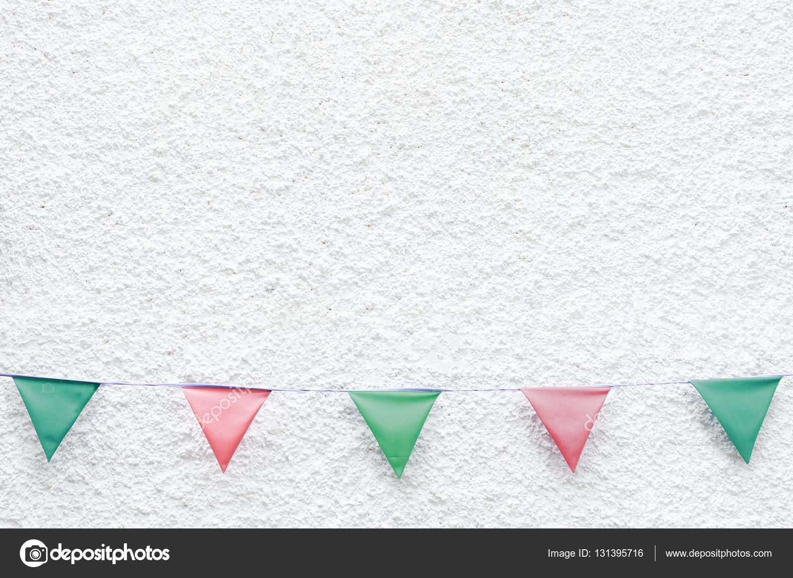 Merry Christmas Party Flags Bunting Hanging On White Wall Background Xmas Eve Holiday Event Minimal Hipster Style Design Photo By Galzpaakagmail
