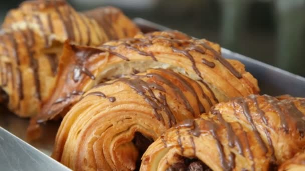 chocolate croissant delicious food