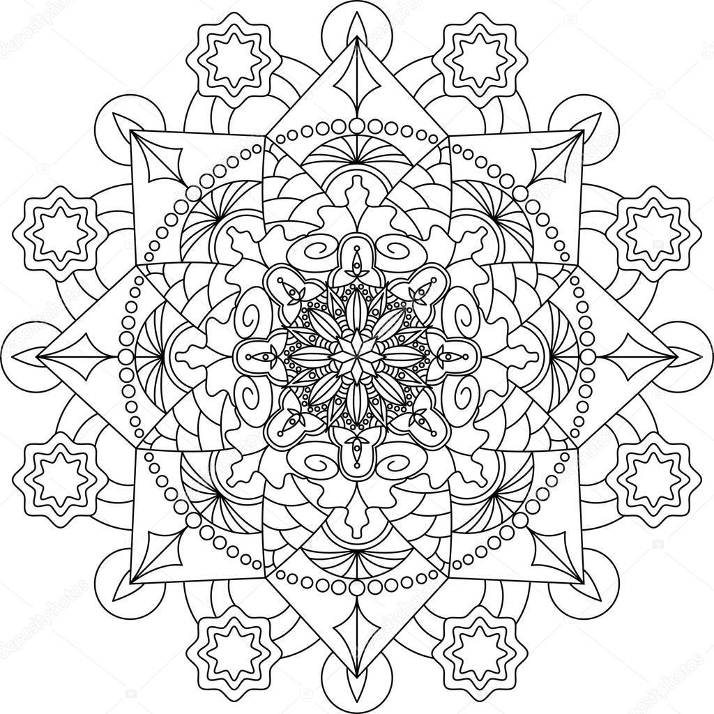 Kleurplaten Mandala Volwassen.Volwassen Mandala Kleurplaat Stockvector C Fodorviola73 129251944