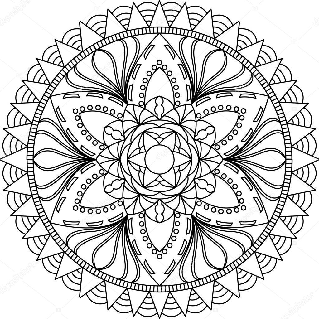 Mandala Malvorlagen für Erwachsene — Stockvektor © Fodorviola73 ...