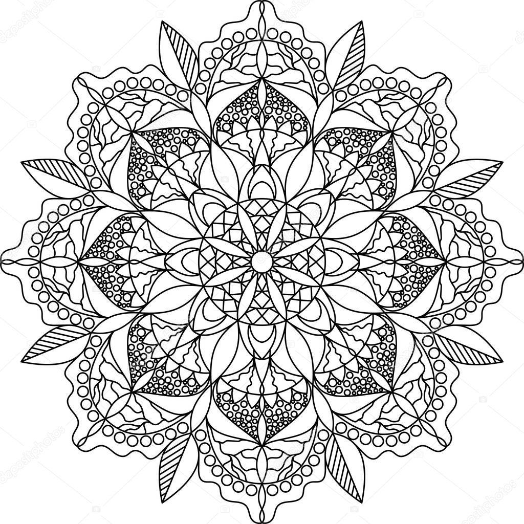 mandala kleurplaat voor volwassene stockvector