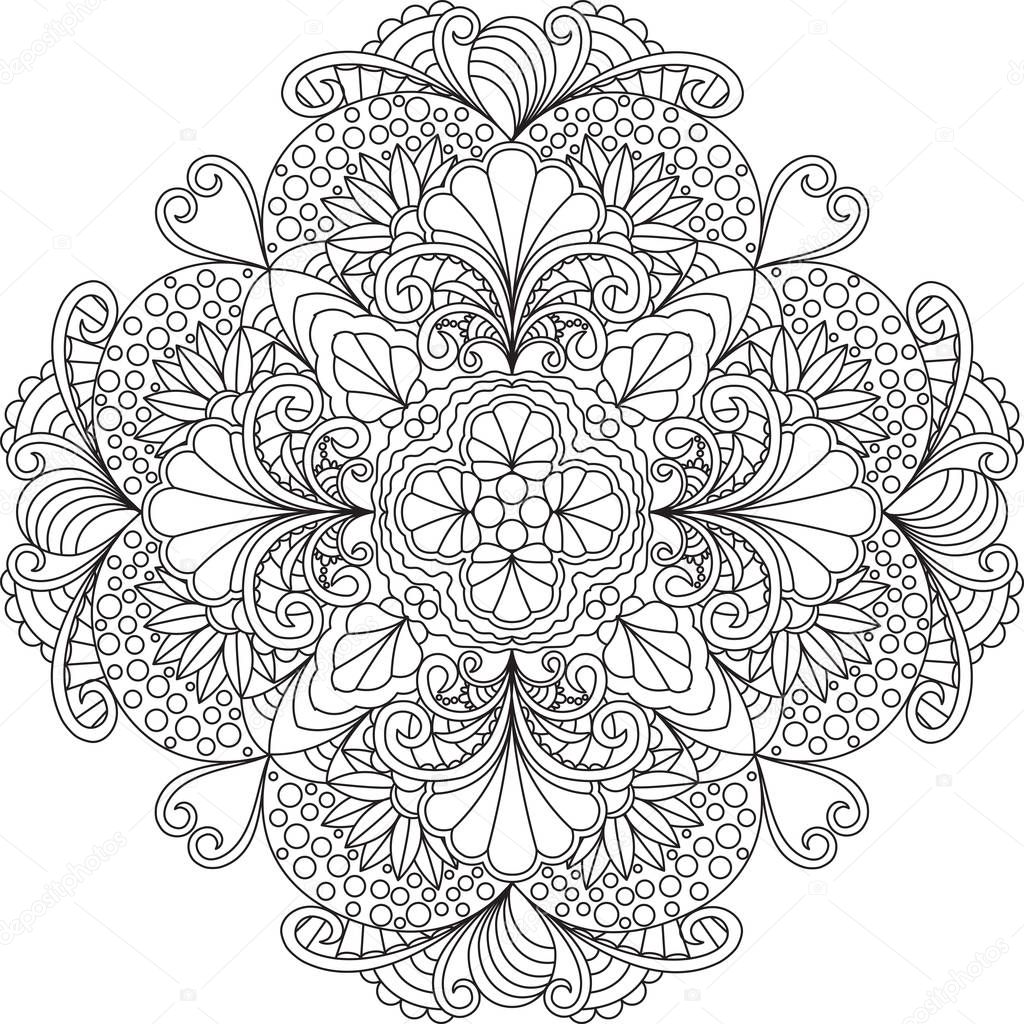 Verrassend Flowers mandala coloring pages | Flowers mandala coloring page TQ-23