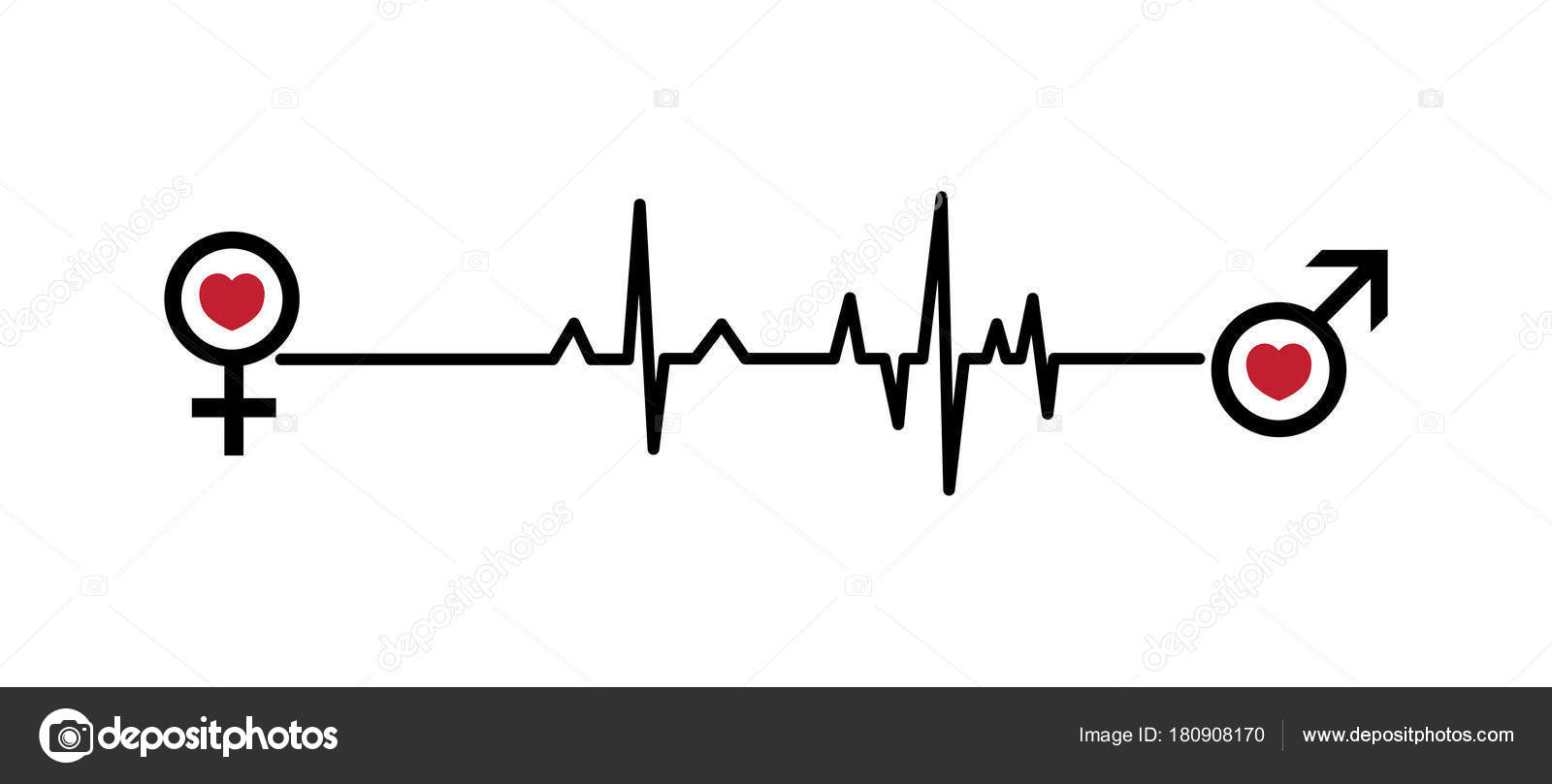 Valentine vector illustration love hearts ekg line woman man love valentine vector illustration love hearts ekg line woman man love stock vector pooptronica Images