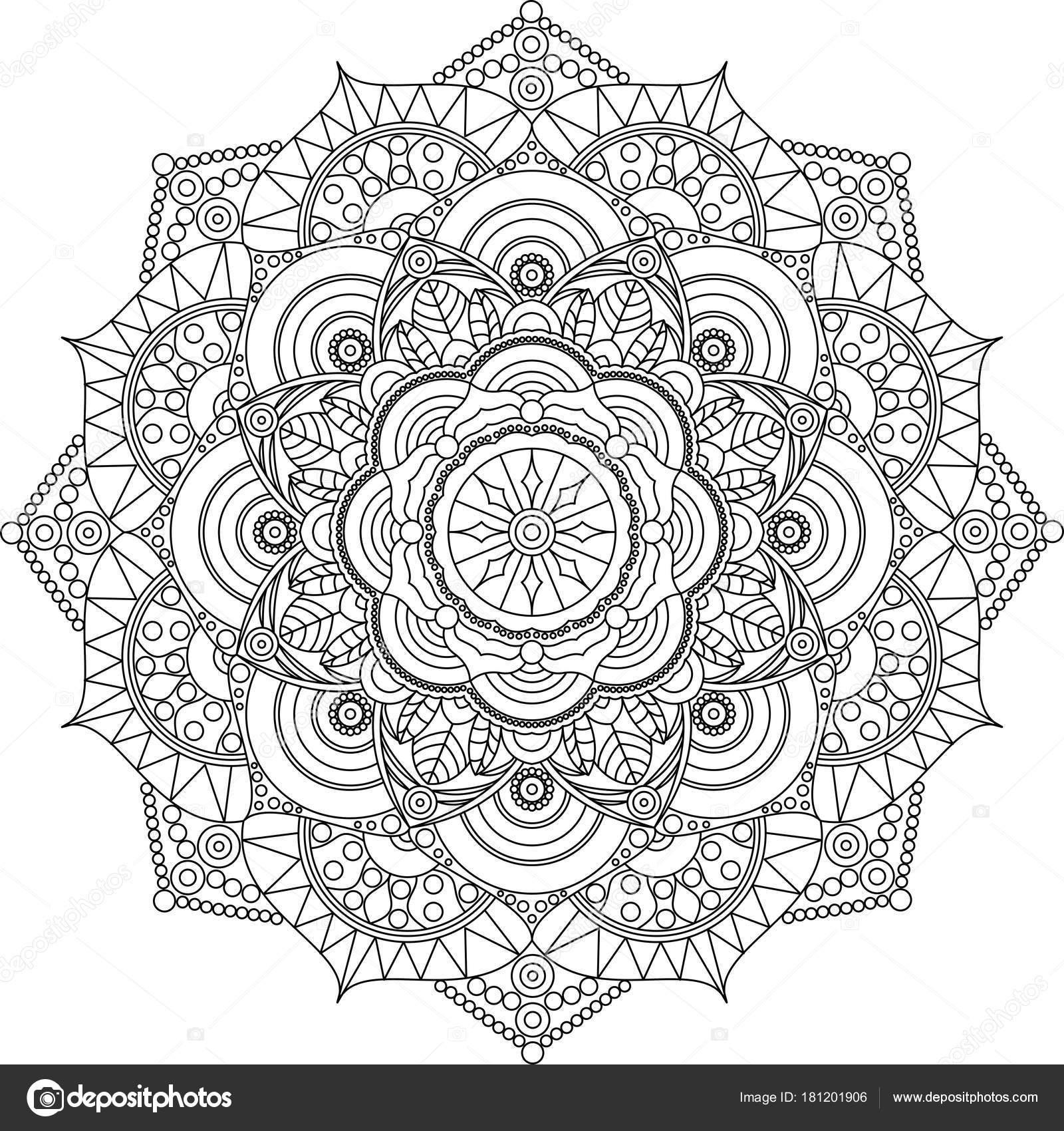Erwachsene Mandala Malvorlagen Entspannen Sie Sich Und Kunst