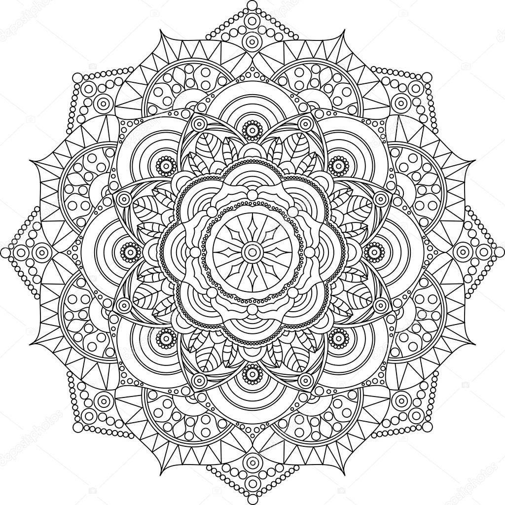 volwassen mandala kleurplaat ontspannen kunst