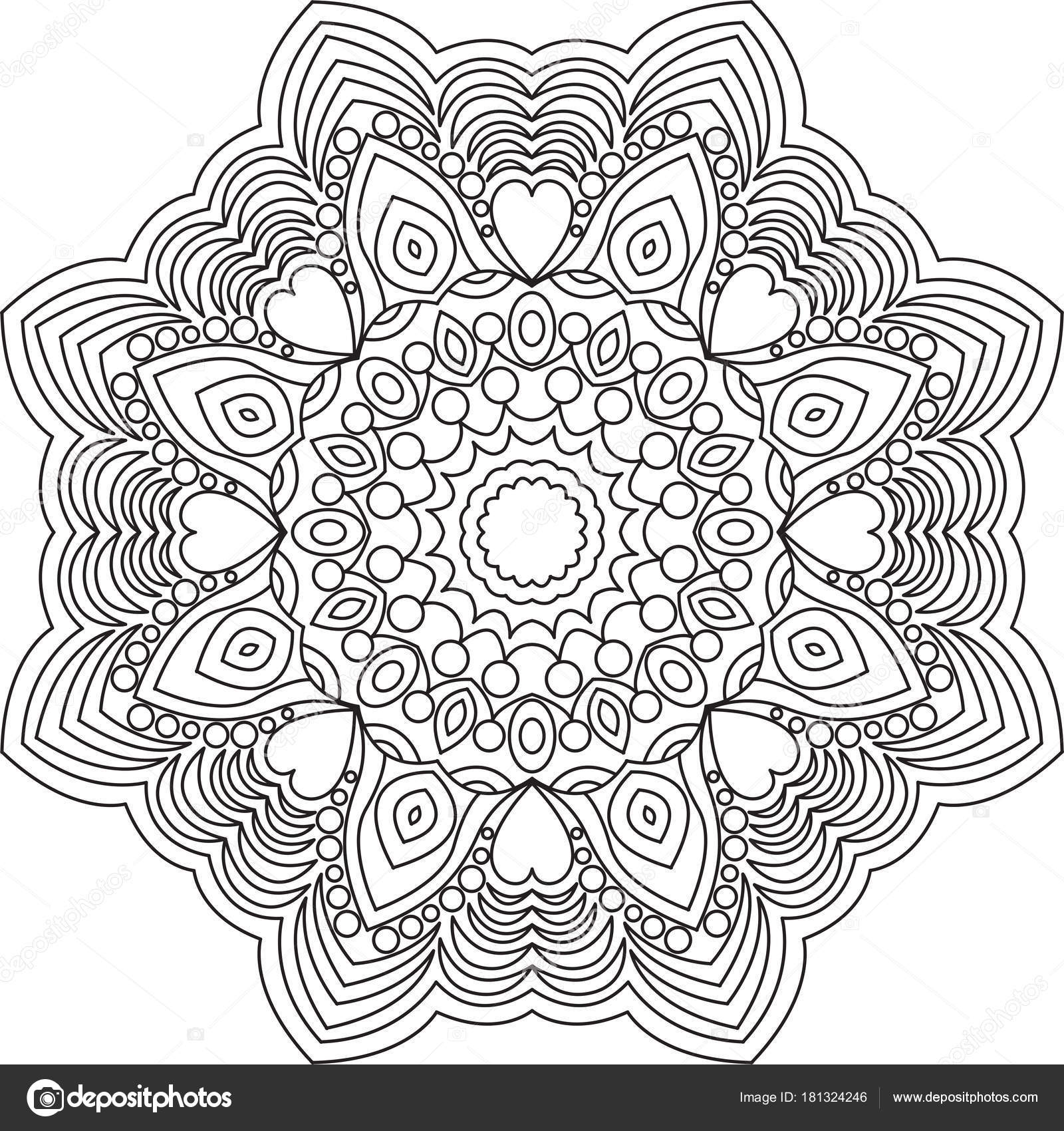 Coloriage Mandala Rond.Mandala Pour Adultes Coloriage Livre Apercu Coloriage Mandala