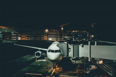 Aircraft maintenance at night airport