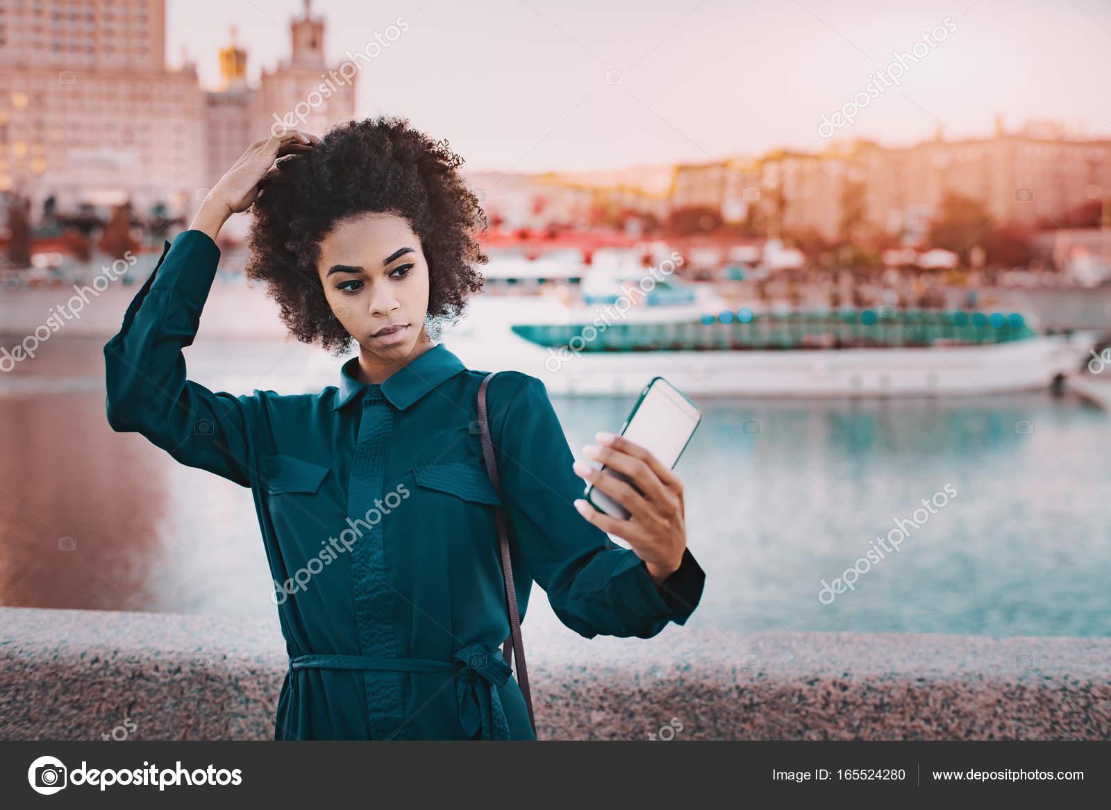 Young black teen girls selfies