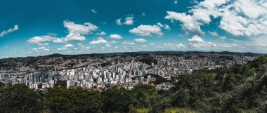 Juiz de Fora panoramic cityscape from a high point