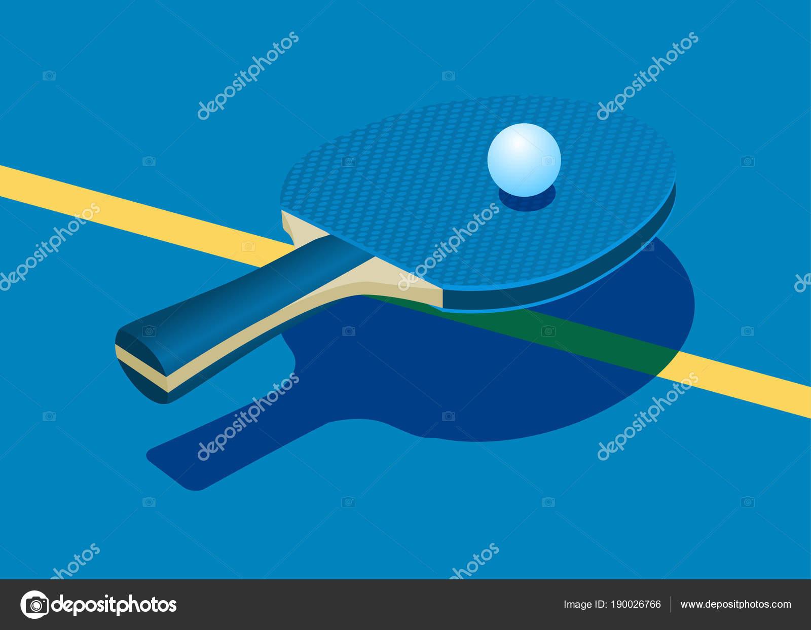 dd8147cd6 Raquete Para Tênis Mesa Bola Ilustração Vetorial — Vetores de Stock ...