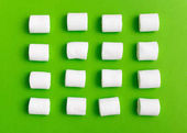 Fotografie pattern with marshmallow candies