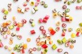 vzorek s barevné sladkosti